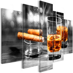 Tablou - Cigars and Whiskey (5 Parts) Wide
