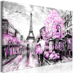 Tablou - Colourful Rendez-Vous (1 Part) Wide Pink