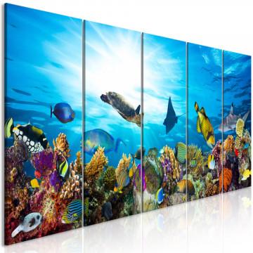 Tablou - Coral Reef (5 Parts) Narrow