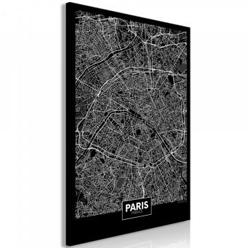 Tablou - Dark Map of Paris (1 Part) Vertical