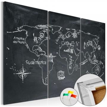 Tablou din plută - Geography lesson [Cork Map]