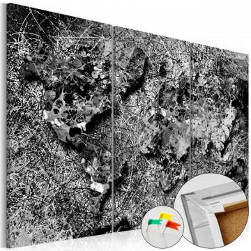 Tablou din plută - Grey Thread [Cork Map]
