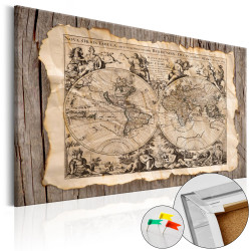 Tablou din plută - Map of the Past [Cork Map]