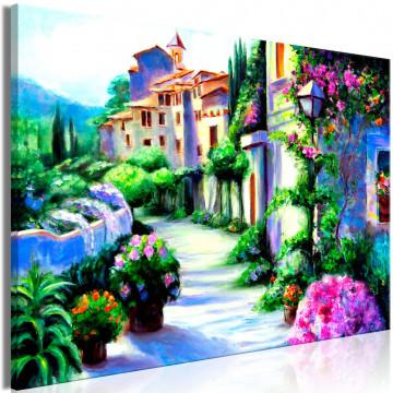 Tablou - Flower Street (1 Part) Wide