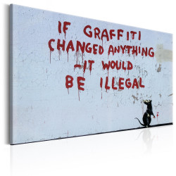 Tablou - If Graffiti Changed Anything by Banksy