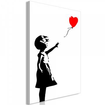 Tablou - Little Girl with a Balloon (1 Part) Vertical