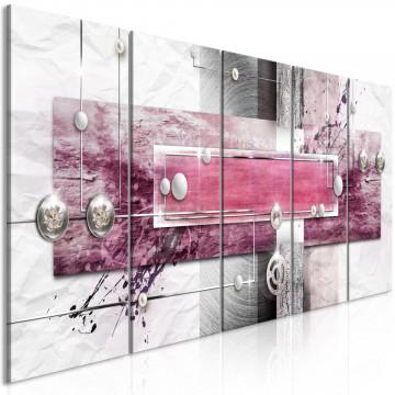 Tablou - Mysterious Mechanism (5 Parts) Narrow Pink