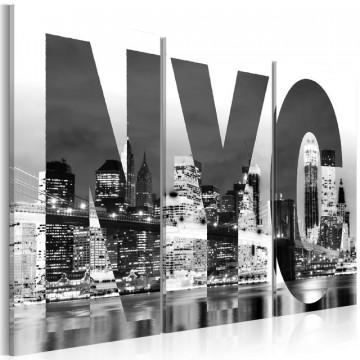Tablou - New York (black and white)