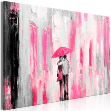 Tablou - Umbrella in Love (1 Part) Wide Pink