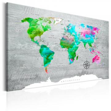 Tablou - World Map: Green Paradise