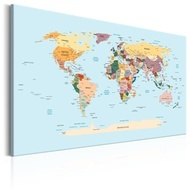 Tablou - World Map: Travel with Me