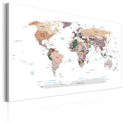 Tablou - World Map: Where Today?