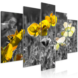 Tablou - Yellow Poppies (5 Parts) Wide