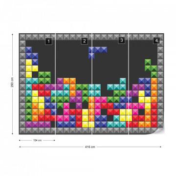 Tetris Photo Wallpaper Wall Mural