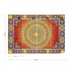 Tribal Pattern Red Photo Wallpaper Wall Mural