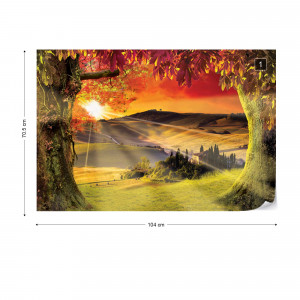 Tuscan Landscape Italy Sunset Photo Wallpaper Wall Mural