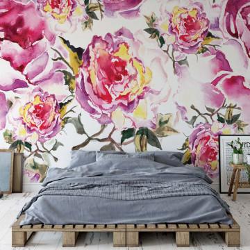 Vintage Flowers Photo Wallpaper Wall Mural