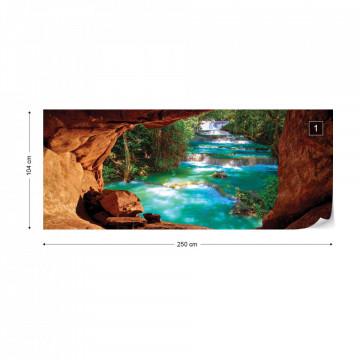 Waterfall Cave Photo Wallpaper Wall Mural