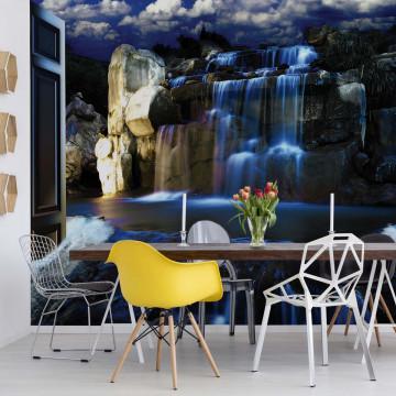 Waterfall Door View Photo Wallpaper Wall Mural