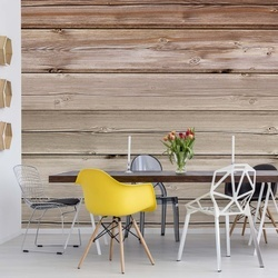 Wood Plank Texture Light Brown Photo Wallpaper Wall Mural