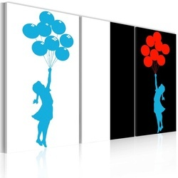 Tablou - girl, balloons (pop art)