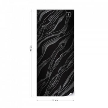 3D Abstract Black Texture Photo Wallpaper Wall Mural