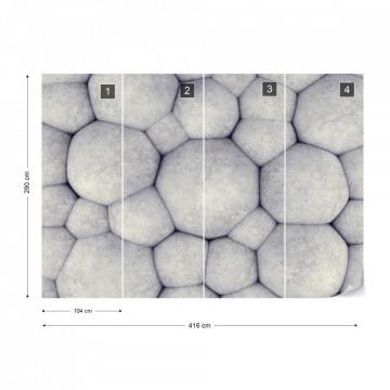 3D Concrete Bubbles Modern Texture Photo Wallpaper Wall Mural