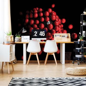 3D Red Balls Photo Wallpaper Wall Mural