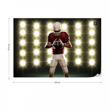 American Football Player Photo Wallpaper Wall Mural