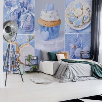 Blue Baby Things Photo Wallpaper Wall Mural