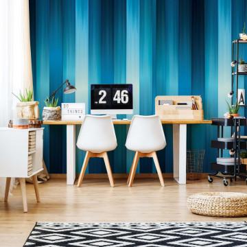 Blue Light Streaks Modern Design Photo Wallpaper Wall Mural