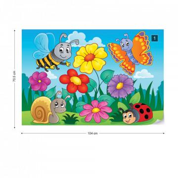 Cartoon Bugs Photo Wallpaper Wall Mural