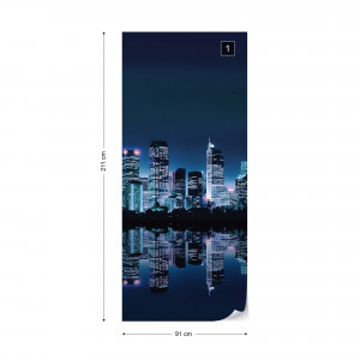 City Skyline Photo Wallpaper Wall Mural