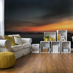 Dawn's Golden Hour Photo Wallpaper Mural