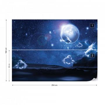 Dreamy Night Sky Photo Wallpaper Wall Mural