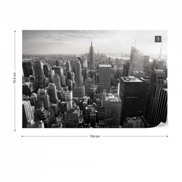 Empire State View in Black & White