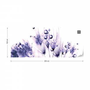Floral Pattern Photo Wallpaper Wall Mural