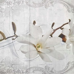 Flowers Pattern Vintage Chic Photo Wallpaper Wall Mural