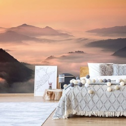 Foggy Morning In The Mountains Photo Wallpaper Mural
