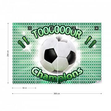 Football Champions Green Photo Wallpaper Wall Mural
