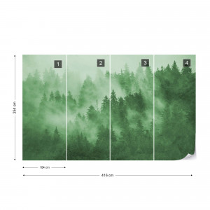 Forest in the Mist in Green