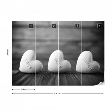 Fototapet - 3 inimi - alb&negru