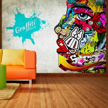 Fototapet autoadeziv - Graffiti beauty