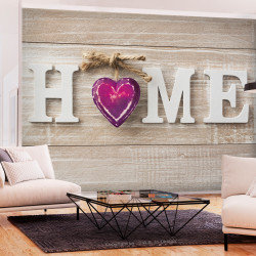 Fototapet autoadeziv - Home Heart (Violet)