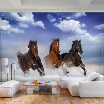 Fototapet autoadeziv - Horses in the Snow