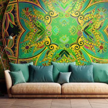 Fototapet autoadeziv - Mandala: Emerald Fantasy