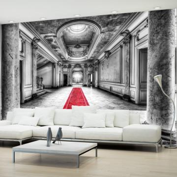 Fototapet autoadeziv - Mystery marble - black and white