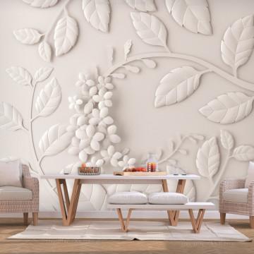 Fototapet autoadeziv - Paper Flowers (Cream)
