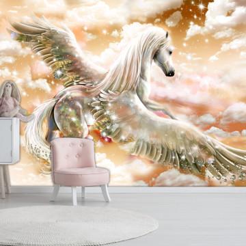 Fototapet autoadeziv - Pegasus (Orange)