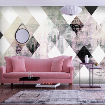 Fototapet autoadeziv - Rhombic Chessboard (Pink)